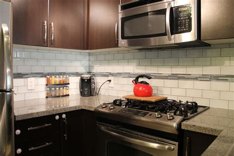 Subway Tile Kitchen Backsplashes snow white 3x6 glass subway tile backsplash contemporary