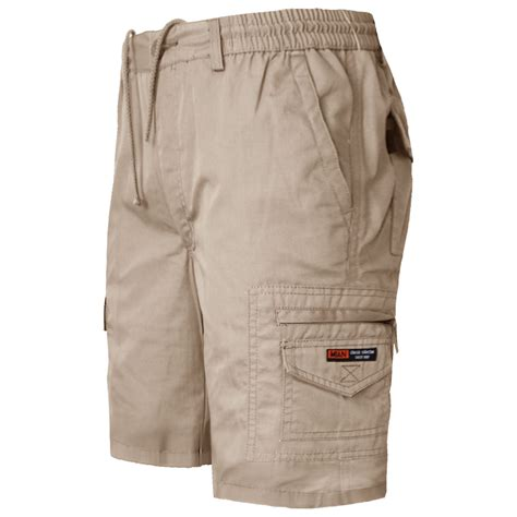Elastic Waist Slim Fit new mens chino elastic waist slim fit shorts cotton casual