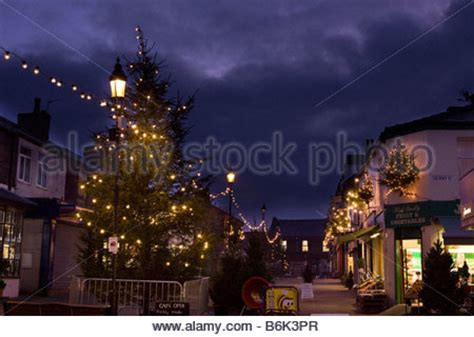 stockport town centre north west england uk stock photo