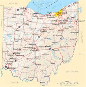 Ohio Map Usa by Ohio Map Listings United States