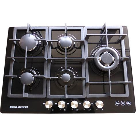 Best 5 Burner Gas Cooktop 5 burner gas glass cook top in black 75cm buy