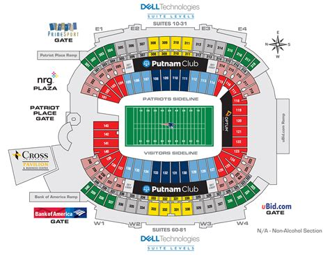 gillette stadium floor plan gillette stadium new england patriots football stadium