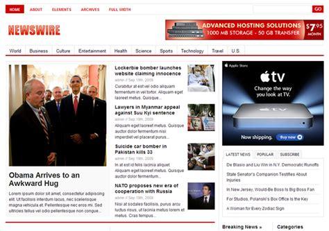newspaper theme junkie newswire 1 0 theme released theme junkie