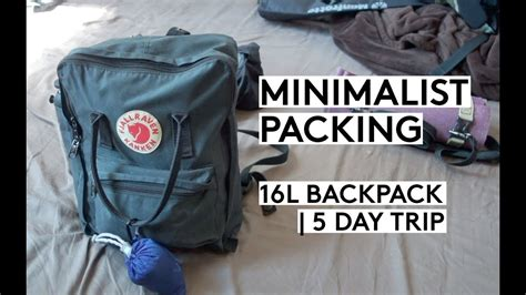 packing minimalist pack with me minimalist packing using fjallraven backpack