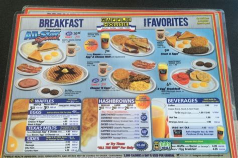 waffle house breakfast menu did you know that waffle house has a full menu