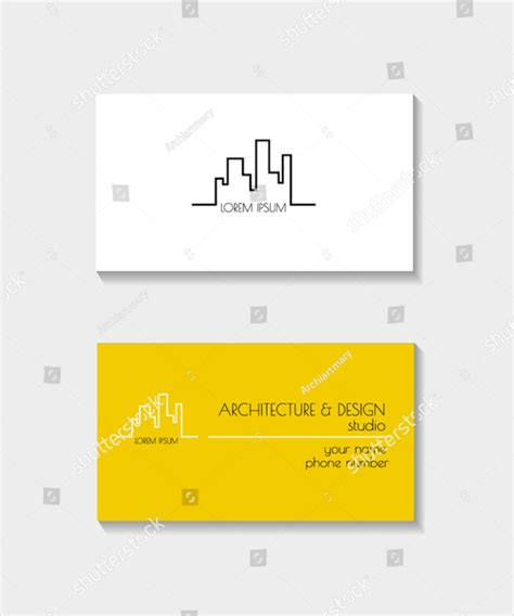 architects business card template 24 architect business card templates free premium