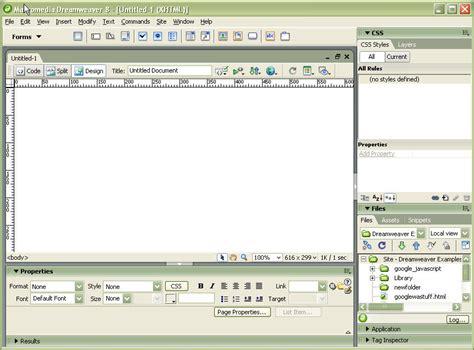 xml tutorial dreamweaver dreamweaver 8 cria 231 227 o de sites em html megatopico com