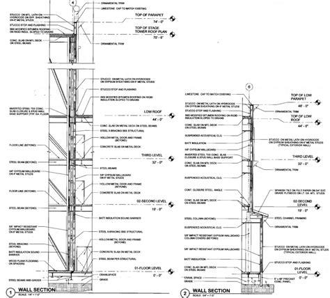 metal stud section drafting sle wall sections metal stud frame rlj of