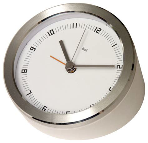 ten blanco executive alarm clock modern alarm clocks by bellacor