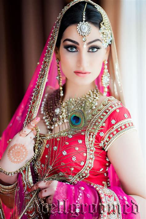 Bridal Images by Beautiful Indian Wearing Well Groomed Designer