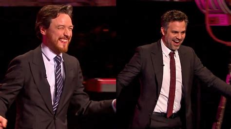 james mcavoy on graham norton show james mcavoy mark ruffalo ride unicycles on the graham
