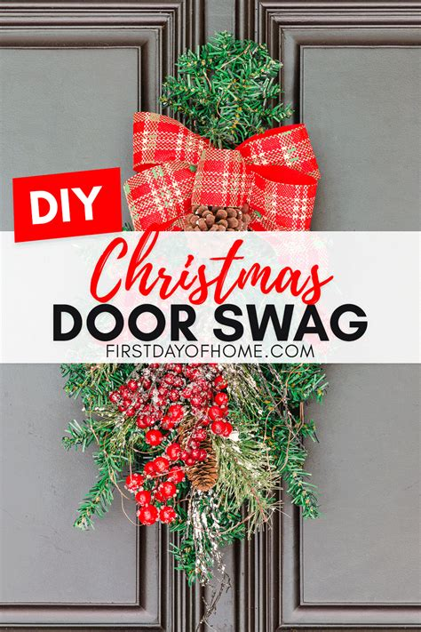 learn     quick  easy christmas swag diy