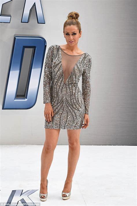 Dress Merna hollyoaks gemma merna in glittering plunging dress at s trek beyond premiere