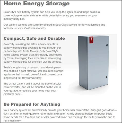 Tesla Energy Storage Tesla Looks To Move Beyond Just Vehicles With A Solar