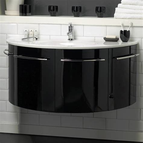 black and white bathroom vanity unit hudson reed moon gt wall hung vanity unit with ceramic top