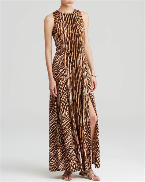 Maxi Dress Trendy 2017 Maxi Leopard lyst michael michael kors animal print maxi dress in brown