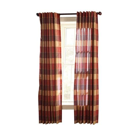 martha stewart living miso merlot faux silk plaid curtain