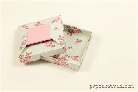 Origami Wrapping Paper Gift Box - origami bow gift box tutorial paper kawaii