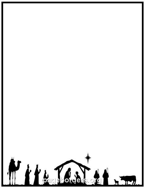 Nativity Border: Clip Art, Page Border, and Vector Graphics