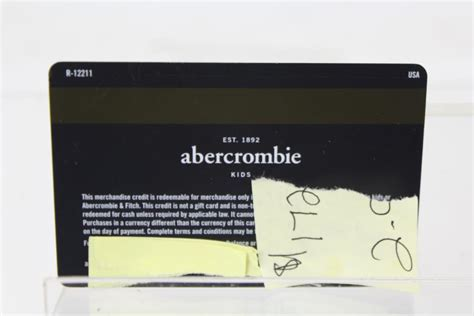 Abercrombie Fitch Gift Card - abercrombie kids credit card kids matttroy