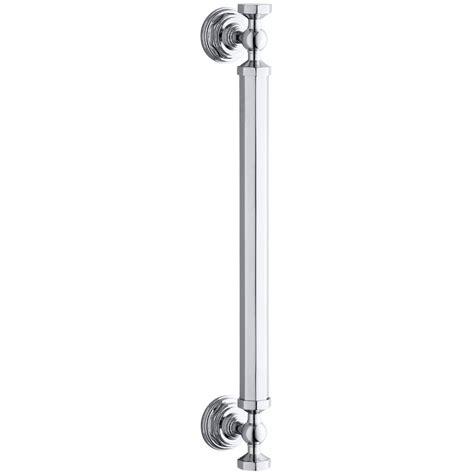 Kohler Shower Door Handles No Drilling Required Draad Premium Solid Brass Grab Bar Shower Door Handle In Chrome Dk220