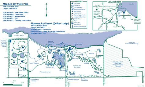 Maumee Bay State Park Cabins by Maumee Bay State Park Map Maumee Bay State Park Mappery