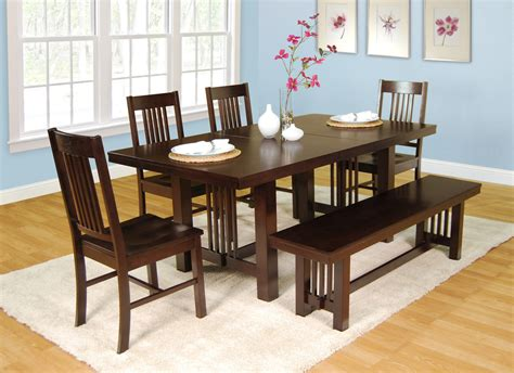 Dining Room Picturesque Dining Tables And Benches Designs Dining Room Table Sets With Bench
