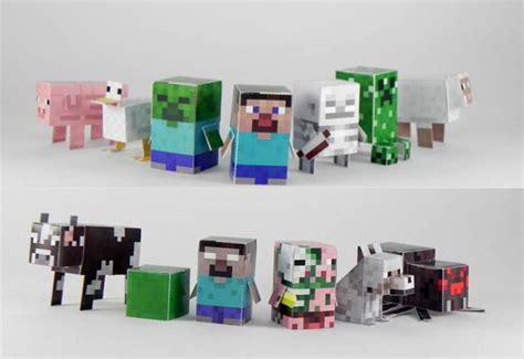 Minecraft Papercraft Figures - minecraft paper toys para imprimir gratis minecraft
