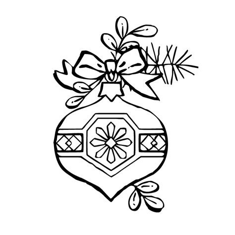 free ornament coloring pages