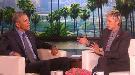 Degeneres Starts A Barack by Degeneres Pays Tribute To Barack Obama On His Last