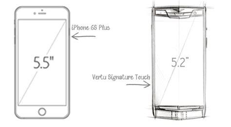 vertu signature touch vs iphone 6s plus versus by compareraja