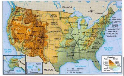 altitude maps united states us physical map with elevation