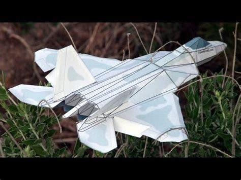 How To Make A 3d Paper Plane - how to make an f 22 paper airplane 3d model