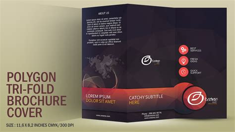 tutorial leaflet design design a polygon tri fold brochure cover photoshop