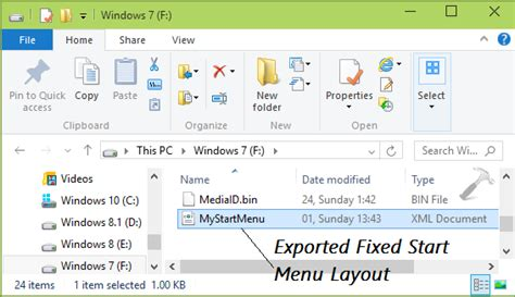 layout xml path how to specify fixed layout start menu in windows 10