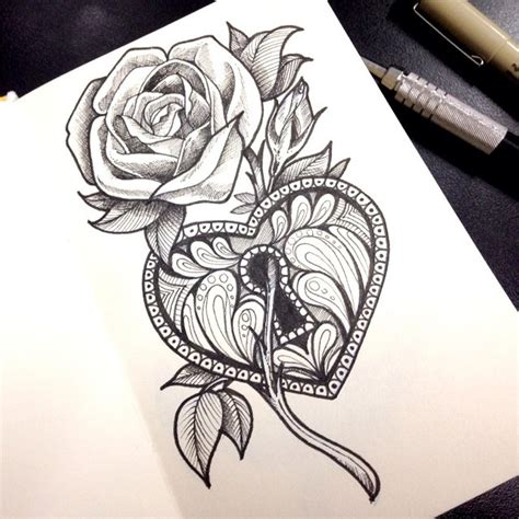 rose and locket tattoo gesiel machado