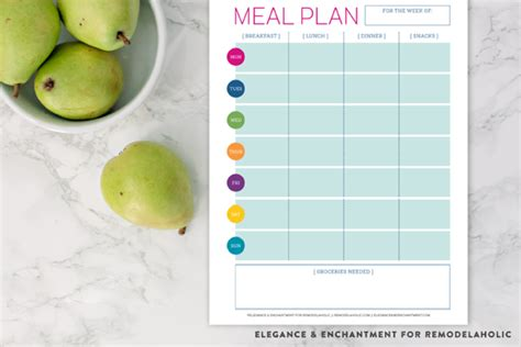 printable meal planner for baby remodelaholic free printable meal planner
