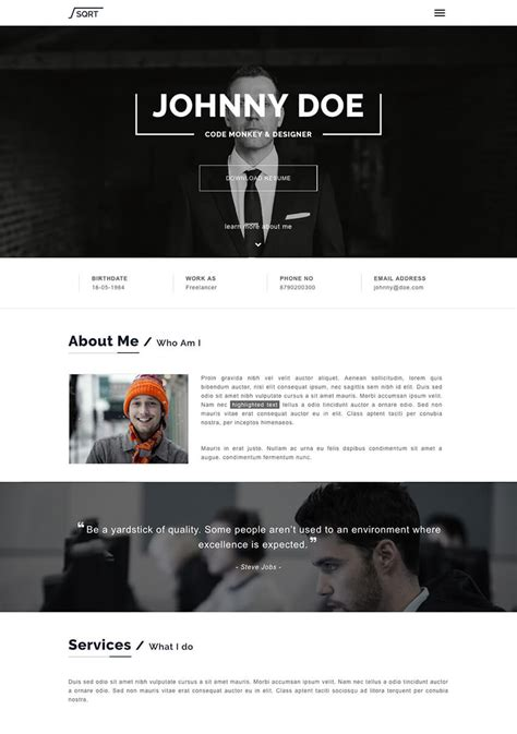 20 best wordpress resume themes for your personal website 20 best wordpress resume themes for your personal website