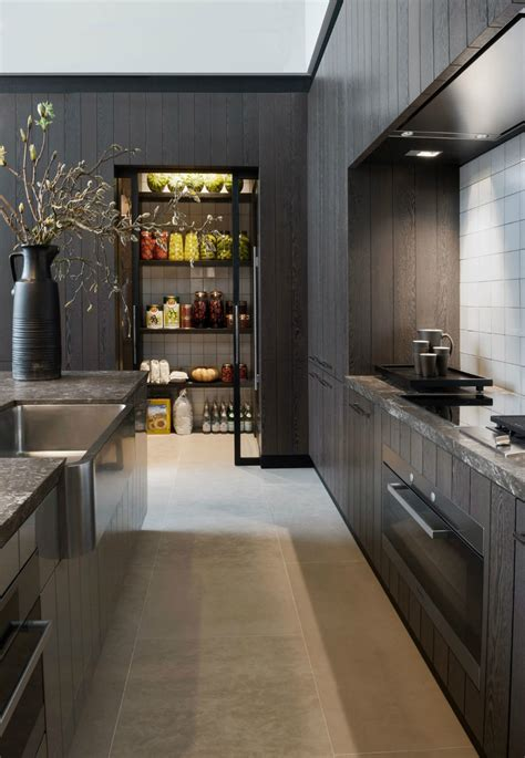 modern black kitchen modern pantry ideas that are stylish and practical