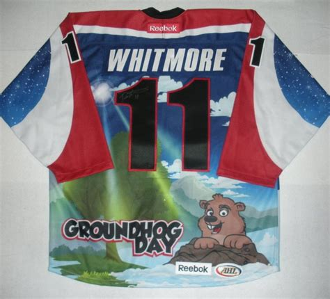 groundhog day auction derek whitmore hershey bears groundhog day autographed