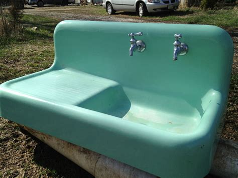 green kitchen sinks vintage kohler farm house kitchen sink mint green antique