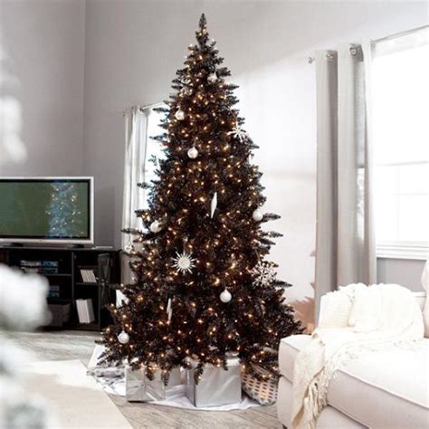 Decorated Black Tree Pictures by Black And White Tree Decorating Ideas