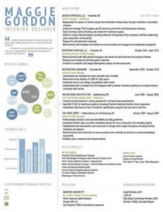 Interior Designer Resume Exle by Interior Design Resume Resume
