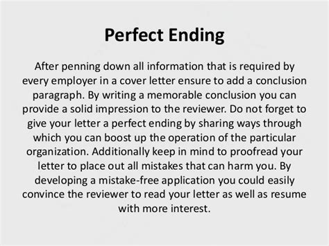 concluding a cover letter why a proper cover letter is must for