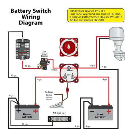 dual battery wiring diagram boat boat circuit diagram