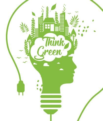 Think Green think green poster vol 3 vector free vector