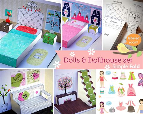 paper doll house printable paper dollhouse and doll portable toys learning