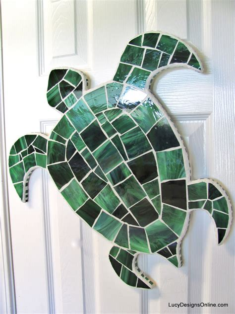 stained glass turtle l octopus seahorse and sea turtle wall stained glass