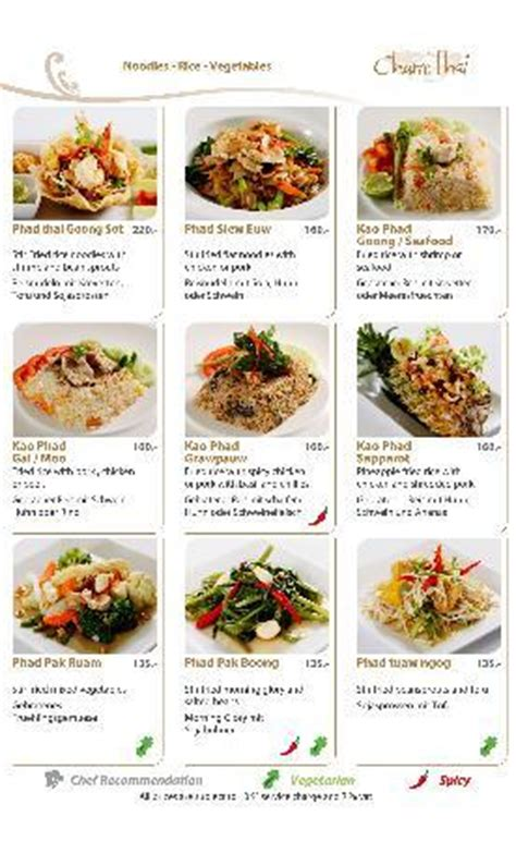 current menu march 2012 picture of charm thai restaurant