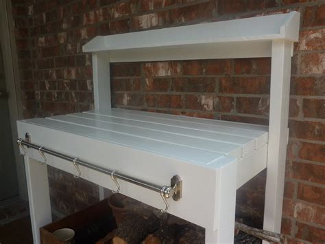 white potting bench ana white simple white potting bench diy projects